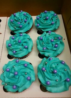 Baby girl shower themes teal party ideas ideas for 2019 Peacock Birthday Party, Teal Party, 1st Birthday Parties, Mermaid Birthday, Birthday Ideas, Teal Baby Showers, Mermaid Baby Showers, Baby Girl Shower Themes, Teal Cupcakes