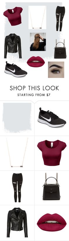 """School of Rock✌🏻"" by jerney-quotes ❤ liked on Polyvore featuring NIKE, Casa Reale, Topshop, Fendi, IRO and Huda Beauty"