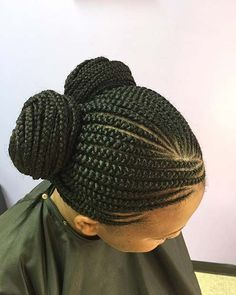 Cute Double Bun Braids for Summer Protective Styles for Black Women #AfricanBraids #BlackWomenNaturalHairstyles
