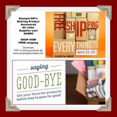 Stampin' UP! 2013 Retiring Product Lists – All while Supplies Last