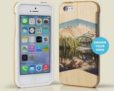 Grove Custom Wood Print iPhone 5s Case with Your Own Instagram Photo #iphone #instagram