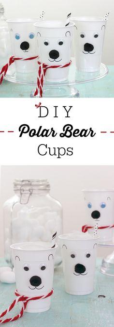 Norm Of The North Fun? Make DIY Polar Bear Cups! via @dawnchats