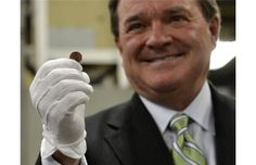 A penny for your thoughts on the penny? More like 5.6 million of them.    The federal government and Royal Canadian Mint spent about $56,000 to have Finance Minister Jim Flaherty stamp the final Canadian penny produced for circulation during a news conference in May at the Mint in Winnipeg. Canadian Penny, Government Spending, Conference, Finance, Mint, Stamp, Thoughts, Watch, Federal
