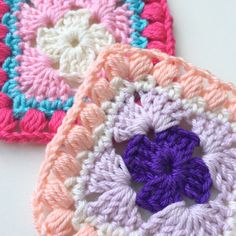 "maRRose - CCC --- ""Bobble Granny Square"", pattern & tutorial"