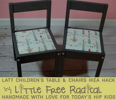 DIY IKEA Hack: $20 LÄTT children's table & chairs makeover | Little Free Radical