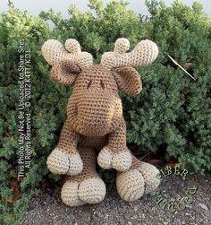 Free Amigurumi Moose Pattern : Amigurumi: Deer, Moose on Pinterest Moose, Reindeer and ...