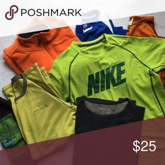 SEVEN Top Bundle Nike, Columbia & More - Boys L/XL 7 gently loved tops total! Boys' sizing: 3 XL short sleeve tops, 1 XL long sleeve thermal top, 2 L short sleeve tops and a L fleece pullover. Brands include Nike, Columbia, Quicksilver, Pure Stuff, REI and Arizona. Nike Shirts & Tops
