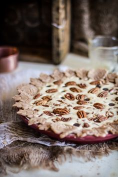 Chocolate Pecan Pie with Spiced Crust @emkosmas