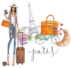 #PFW 'Take Me to Parisl' by @hnicholsillustration/ hnillustration.etsy.com| Be Inspirational ❥|Mz. Manerz: Being well dressed is a beautiful form of confidence, happiness & politeness