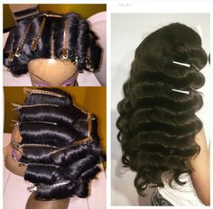 So this is how these waves are made...nice! Custom lace closure unit