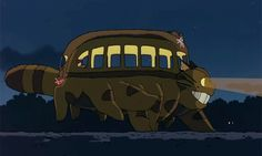 Someday I will tattoo you running around my ankle, Catbus.
