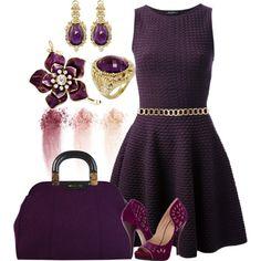 Purple!  by sandeek00 on Polyvore