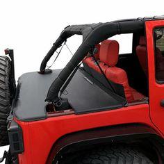 Cargo Cover for Jeep Wrangler JKU Sports//Sahara//Freedom//Rubicon 4-Door Unlimited 2007-2018 models trunk TESIN T-C1