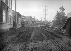 Tampere, Finland, in early century; one of the main roads in Pispala, Tampere Old Photos, Roads, Railroad Tracks, Finland, Maine, Environment, Times, Historia, Old Pictures