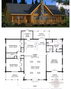 "90 Likes, 2 Comments - Southland Log Homes (@southlandloghomes) on Instagram: ""Happy #FloorPlan Friday! The Adair #loghome is a beautiful and simplistic design, valuing wise use…"" #SouthlandLogHomes"