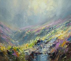 Reflected Sunlight, Fairbrook Valley by British Contemporary Artist Rex PRESTON