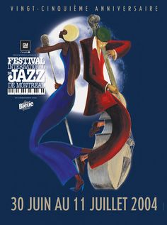 Poster from 2004 Montréal Jazz Festival by Yves Archambault