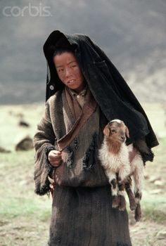 Tibetan Boy carrying Kid