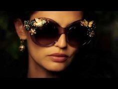 Dolce&Gabbana Swarowski Crystal Flowers and Fly Sunglasses for FW 2014-2015