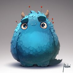 Blue Furry Monster