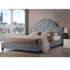 Baxton Studio Colchester Grey Linen Modern Platform Bed ? King Size - Overstock™ Shopping - Great Deals on Baxton Studio Beds