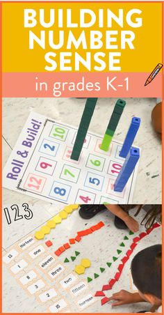 These hands on number sense activities are the perfect way to get kindergarten and first grade students to develop their number sense with numbers 0-20. So many interactive activities where students use manipulatives to feel and understand the numbers!