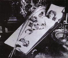 The Great Sarah Bernhardt Asleep in Her Coffin, Silver gelatin print, circa 1882