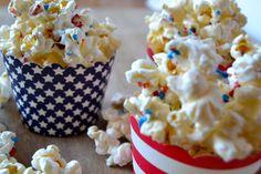 Patriotic Popcorn|Recipe For a Sweet Life