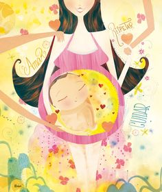 .:Haz lo que quieras:. Pregnancy Images, Pregnancy Art, Beautiful Pregnancy, Sex And Love, Illustrations, Mother And Child, Cute Illustration, Baby Wearing, Baby Pictures
