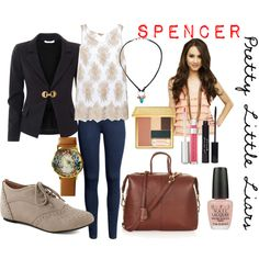 """Pretty Little Liars Fashion: Spencer Hastings"" by yanyaniel on Polyvore"