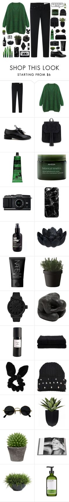"""""""NANCY"""" by pure-and-valuable ❤ liked on Polyvore featuring rag & bone, Aesop, Aveda, Casetify, Sia, NARS Cosmetics, Muuto, Tsovet, Oly and Eight & Bob"""