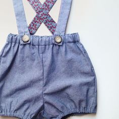 You can never go wrong with blue chambray and reversible straps am I right? || StotS bubble romper 10.1.15 7pm PST #AW2015VersoRectoCollection #wearitbackwards #obversereverse by pirapir_store