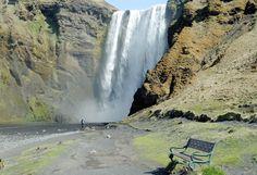 Skógafoss - Iceland. Feel alone....