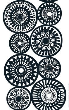 Graphic Design - Pattern Design - Marimekko - such a graphic quality in black and white Pattern Design : – Picture : – Description Marimekko – such a graphic quality in black and white -Read More – Design Textile, Textile Patterns, Fabric Design, Pretty Patterns, White Patterns, Floral Patterns, Painted Patterns, Surface Pattern Design, Pattern Art