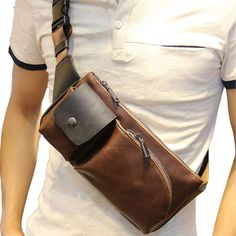 Quality New Fashion Style Crazy Horse PU Leather Men Chest Pack Casual Small Bag CrossBody Shoulder Bag Leisure Travel Mini Bag 5 Colors with free worldwide shipping on AliExpress Mobile Crazy Horse, Small Crossbody Bag, Crossbody Shoulder Bag, Shoulder Bags, Leather Men, Leather Wallet, Leather Crossbody Bag, Sacs Design, Handbags For Men