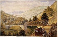 Brees Bridge over the Maribyrnong near Keilor, 1856.  Artist Samuel Brees. http://digital.slv.vic.gov.au/webclient/StreamGate?folder_id=200=1367384419130~150