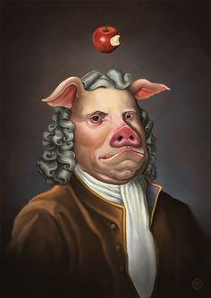 Pig Newton:Delicious Discovery by dviart.deviantart.com on @DeviantArt