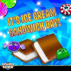 DoubleDown Casino on Mobile! Sandwich Day, Doubledown Casino, Cash Prize, Summer Heat, Cool Kids, Sandwiches, Chips, Join, Ice Cream