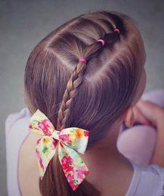coiffure fillette ruban coloré