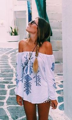#summer #fashion / tribal print