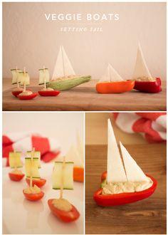 i love food art Cute Snacks, Snacks Für Party, Easy Snacks, Cute Food, Good Food, Funny Food, Cheese Stuffed Peppers, Stuffed Sweet Peppers, Deco Fruit