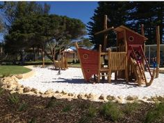 Pirate Playground Mullaloo - Daniel won't let me walk past here, he has to have a play every time x