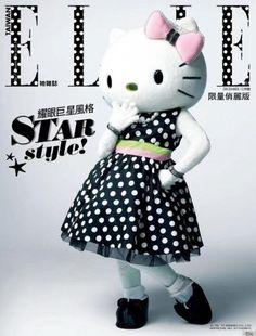Kitty en couverture du ELLE Japon