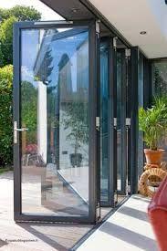 baie vitr e coulissante coulissante empilable en aluminium double vitrage cf 77. Black Bedroom Furniture Sets. Home Design Ideas