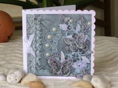 Butterfly Card Green Butterfly Card Vintage look by 4SeasonCards, €5.00