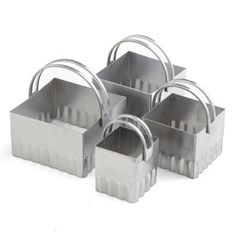 RSVP Rippled Edge Square Biscuit Cutters - Set of 4 | CHEFScatalog.com