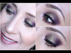 Purple & Lime Green Makeup Tutorial - Palladio Crushed Metallic Eyeshadows - YouTube