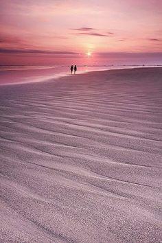 Sunset in Legian beach, Kuta, Bali, Indonesia