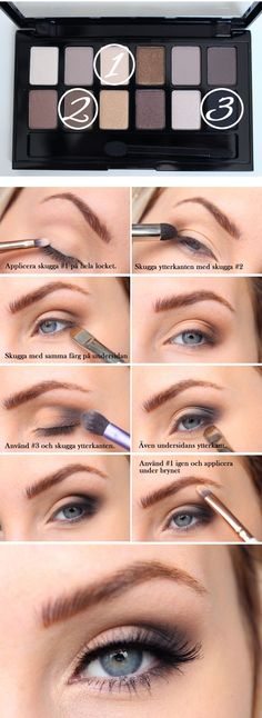 Maybelline das Nudes Palett Tutorial: - make up palette Mac Makeup, Eyebrow Makeup, Makeup Eyeshadow, Makeup Tips, Beauty Makeup, Makeup Ideas, Makeup Eyebrows, Makeup Hacks, Blush Beauty