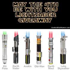 I'd really like that Darth Vader lightsaber